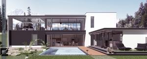 Maison contemporaine l'image 3d