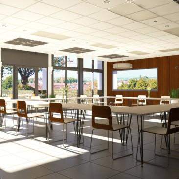 salle de réunion l'image 3d