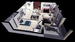 Appartement plan de vente 3d l'image 3d